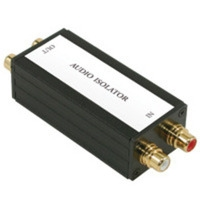 C2G Stereo Audio Isolation Transformer Nero divisore di rete