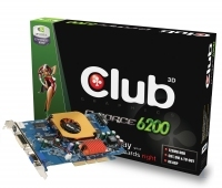 CLUB3D GeForce 6200 128MB(CGN-628TVD) GeForce 6200 GDDR