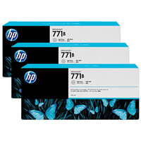HP 771B 3-pack 775-ml Light Gray Designjet Ink Cartridges testina stampante