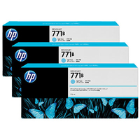 HP 771B 3-pack 775-ml Light Cyan Designjet Ink Cartridges testina stampante