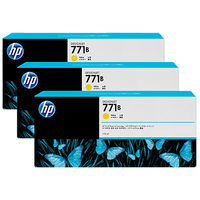 HP 771B 3-pack 775-ml Yellow Designjet Ink Cartridges testina stampante
