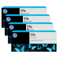 HP 771B 3-pack 775-ml Matte Black Designjet Ink Cartridges testina stampante