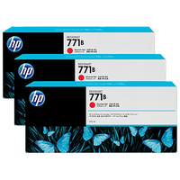 HP 771B 3-pack 775-ml Chromatic Red Designjet Ink Cartridges testina stampante