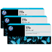 HP 771B 3-pack 775-ml Photo Black Designjet Ink Cartridges testina stampante