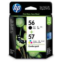 HP 56 Black(2)/57 Tri-color(1) 3-pack Original Ink Cartridges cartuccia d