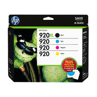 HP 920XL High Yield Black/920 Cyan/Magenta/Yellow Super Combo-pack cartuccia d
