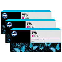 HP 771B 3-pack 775-ml Magenta Designjet Ink Cartridges testina stampante
