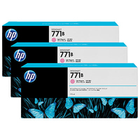 HP 771B 3-pack 775-ml Light Magenta Designjet Ink Cartridges testina stampante
