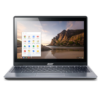 "Acer Chromebook C720P-29552G03aii 1.4GHz 2955U 11.6"" 1366 x 768Pixel Touch screen Argento Chromebook"