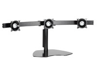 Chief Flat Panel Triple Monitor Horizontal Table Stand Nero