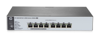 HP 1820-8G-PoE+ (65W) Managed network switch L2 Gigabit Ethernet (10/100/1000) Supporto Power over Ethernet (PoE) 1U Grigio