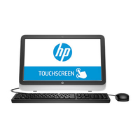 "HP TouchSmart 20-r033d 3.2GHz i3-4170T 19.5"" 1600 x 900Pixel Touch screen Nero, Argento PC All-in-one"