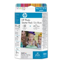 HP 343 Series Photo Starter Pack with Vivera Inks-13 x 18 cm/60 sht cartuccia d