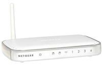 Netgear 54 Mbps Wireless Print Server w/ 4-port Switch LAN senza fili server di stampa