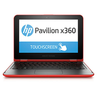 "HP Pavilion x360 11-k043tu 1.6GHz N3050 11.6"" 1366 x 768Pixel Touch screen Nero, Rosso Ibrido (2 in 1)"