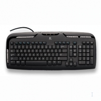 Logitech Media Keyboard USB+PS/2 Nero tastiera