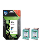 HP 344 2-pack Tri-color Inkjet Print Cartridges Ciano cartuccia d