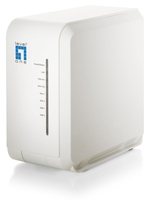 LevelOne 2-Bay Gigabit Network Storage NAS Scrivania Collegamento ethernet LAN Bianco