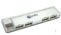 Macally USB2.0 Mini Slim portable 4 port Hub 480Mbit/s perno e concentratore