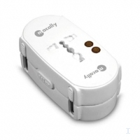 Macally Universal powerplug adaptor Bianco adattatore e invertitore