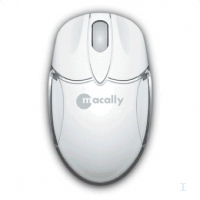 Macally USB optical internet mini mouse USB Ottico Bianco mouse
