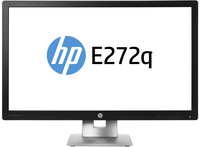 "HP EliteDisplay E272q 27"" Wide Quad HD IPS Opaco Nero, Argento monitor piatto per PC"