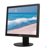 "Sony 19"" Black Flat Panel LCD 19"" Nero monitor piatto per PC"