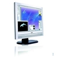 "Philips 20 inch LCD Monitor 200P6IS/00 20.1"" Argento monitor piatto per PC"