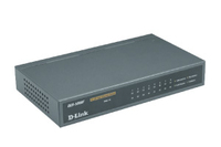 D-Link 7-port TP 10/100Mbps + 1-port 100BaseFX fiber, desktop switch - External PSU