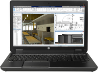 "HP ZBook MWS BUNDEL 15 G2 4Core 2.5GHz 15.6""IPSFHD, NVIDIA K2100M, 24GB geheugen, 256GB PCIeSSD, 750GB HDD, tas 2.5GHz i7-4710MQ 15.6"" 1920 x 1080Pixel Nero Workstation mobile"