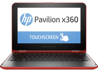 "HP Pavilion x360 11-k102nd 1.6GHz N3050 11.6"" 1366 x 768Pixel Touch screen Rosso Computer portatile"