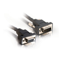 C2G 15ft Plenum-Rated Panel Mount HD15 M/F UXGA Extension Cable 4.57m VGA (D-Sub) VGA (D-Sub) Nero cavo VGA