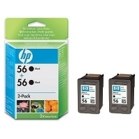 HP 56 Black Inkjet Print Cartridge 2-pack Nero cartuccia d