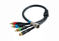C2G 0.5m RapidRun Component Video + S-Video V.2 Break-Away Flying Lead 0.5m RCA + S-Video Blu