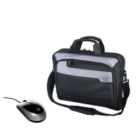 "HP 16in Deluxe Carrying Case and Mobile Mouse Bundle 16"" Valigetta ventiquattrore Nero, Grigio"