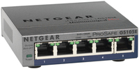 Netgear 5-Port Gigabit Ethernet Switch No gestito Nero