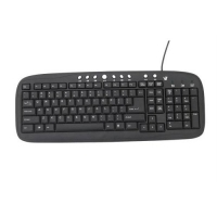 V7 Multimedia Keyboard USB Nero tastiera