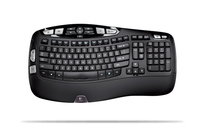 Logitech Wireless Keyboard K350, UK RF Wireless Nero tastiera