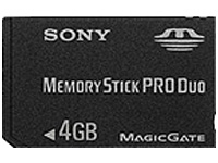 Sony Memory Stick Pro Duo 4GB 4GB memoria flash
