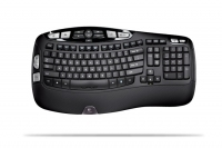 Logitech Wireless Keyboard K350, DE RF Wireless Nero tastiera