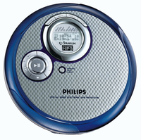 Philips EXP3361/00C Personal CD player Blu, Argento CD player