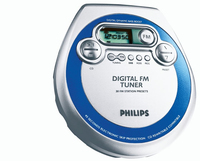 Philips AZT3202/00C Portable CD player Blu, Argento CD player