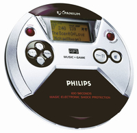 Philips EXP521/00C Portable CD player Nero, Argento CD player