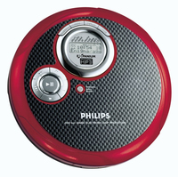 Philips EXP3363/00C Portable CD player Nero, Rosso CD player