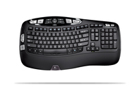 Logitech Wireless Keyboard K350, US RF Wireless Nero tastiera
