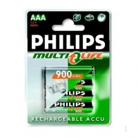 Philips R03R90P4 - Multilife rechargeable battery Nichel-Metallo Idruro (NiMH) 900mAh 1.2V batteria ricaricabile
