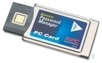 APC Touch Biometric PC Card Password Manager smart card