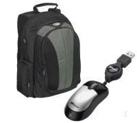 "Targus Notebook Backpac & Optical Mouse, Bundle 15.4"" Zaino Nero"