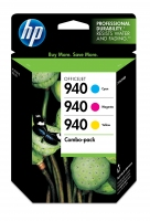 HP 940 Combo-pack Cyan/Magenta/Yellow Ciano, Giallo cartuccia d