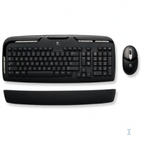 Logitech Cordless Desktop EX 110 UK RF Wireless QWERTY Nero tastiera